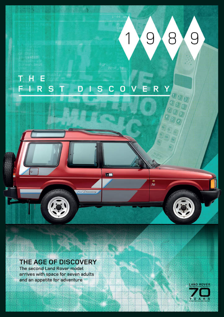 Land Rover Discovery lanserades 1989.